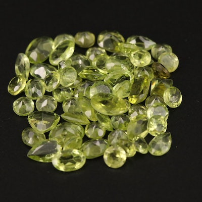 Loose 23.90 CTW Mixed Faceted Peridot
