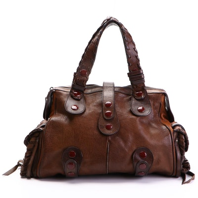 Chloé Silverado Satchel in Brown Leather