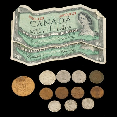 Vintage to Modern Canadian Coins and Currency