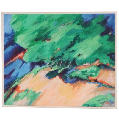 """Elsie Kay Harris Acrylic Painting """"Reawakening"""""""