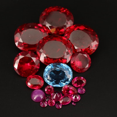 Loose Laboratory Grown Ruby, Star Ruby and Spinel
