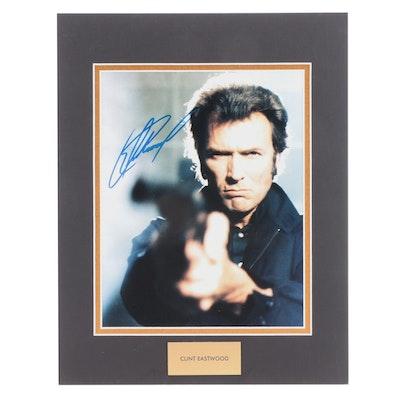 Clint Eastwood Signed Academy Award Winning Actor Movie Photo Print, COA