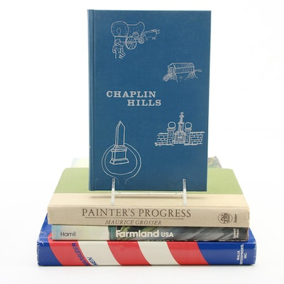 """Signed Art and History Books Including """"Chaplin Hills"""" by Geraldine Crain Harmon"""