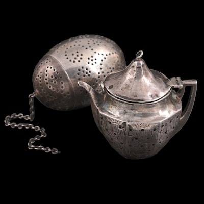 Gorham and Webster Silver Company Sterling Silver Tea Strainers