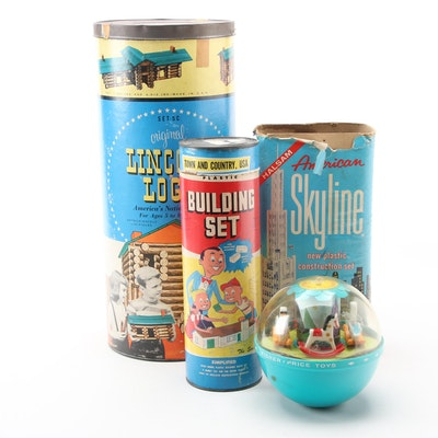 Fisher-Price Roly Poly Chime Ball, Lincoln Logs and Other Building Sets