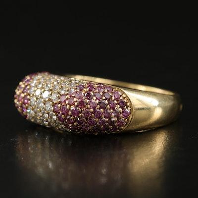18K Italian Gold Pavé 1.56 CTW Diamond Ring