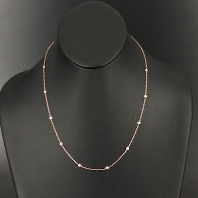 14K 0.60 CTW Diamond Station Necklace
