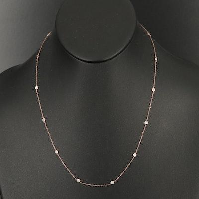 18K 0.75 CTW Diamond Station Necklace