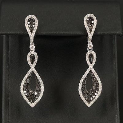 14K Diamond Twist Earrings