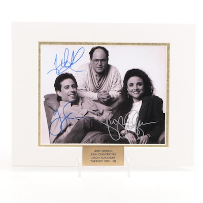 """Seinfeld, Louise-Dreyfus, and Alexander Signed """"Seinfeld"""" TV Cast Photo Print"""
