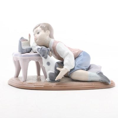 """Lladró """"Hanukah Lights"""" Porcelain Figurine Designed by Francisco Polope"""