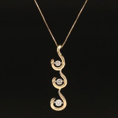 14K 0.50 CTW Diamond En Tremblant Pendant Necklace