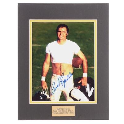 "Burt Reynolds Signed ""The Longest Yard"" (1974) Movie Photo Print, COA"