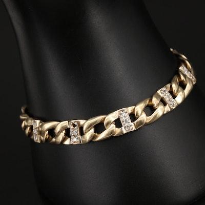 14K 0.52 CTW Diamond Curb Chain Bracelet
