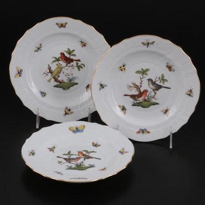 "Herend ""Rothschild Bird"" Porcelain Salad Plates, 1990s"