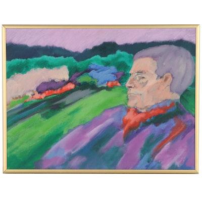 """Elsie Kay Harris Acrylic Painting """"Memories"""""""