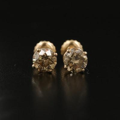 14K 1.40 CTW Diamond Stud Earrings