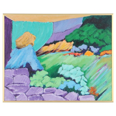 "Elsie Kay Harris Acrylic Painting ""Reminiscent"""