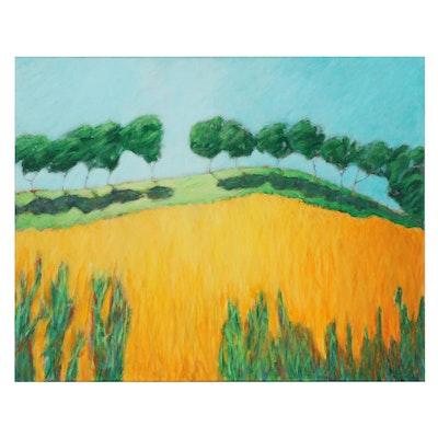 "Elsie Kay Harris Acrylic Painting ""Along the Ridge"""