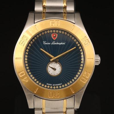 Tonino Lamborghini Stainless Steel and 18K Gold Plate Wristwatch