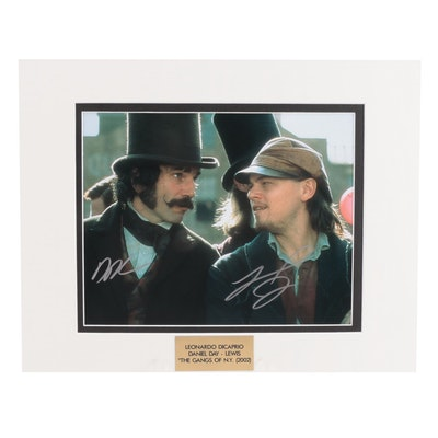 "Leonardo DiCaprio & Daniel Day-Lewis Signed ""The Gangs of NewYork"" Photo Print"