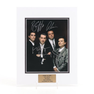 "De Niro, Liotta, Pesci, & Sorvino Signed ""Goodfellas"" (1990) Movie Photo Print"