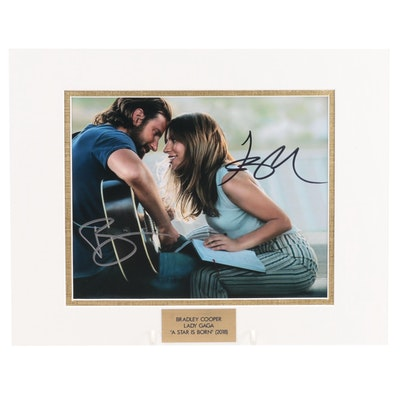"""Bradley Cooper and Lady Gaga Signed """"A Star Is Born"""" Movie Photo Print, COA"""