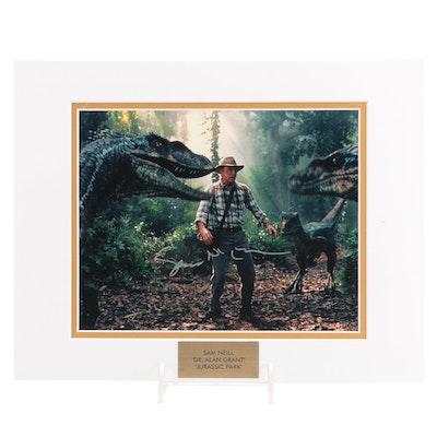 "Sam Neill ""Dr. Alan Grant"" Signed ""Jurassic Park"" Movie Photo Print, COA"