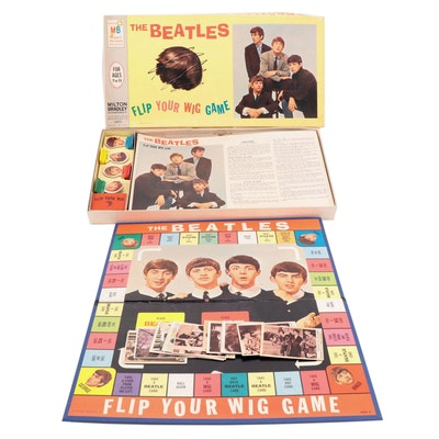 """The Beatles """"Flip Your Wig"""" Board Game, The Monkees Trading Cards, 1960s"""