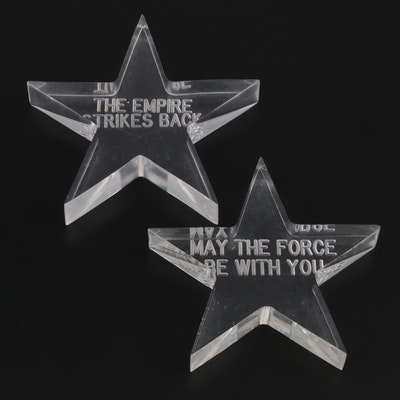"""Etched Stars """"Star Wars: The Empire Strikes Back"""", """"May the Force Be With You"""""""