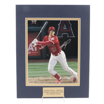 "Shohei Ohtani ""Shotime"" Signed Pitcher & DH Los Angeles Angels Photo Print, COA"