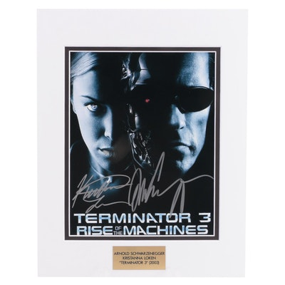 "Schwarzenegger and Loken Signed ""Terminator 3"" (2003) Movie Photo Print, COA"