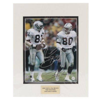 Jerry Rice & Tim Brown Signed Wide Receivers Oakland Raiders Photo Print