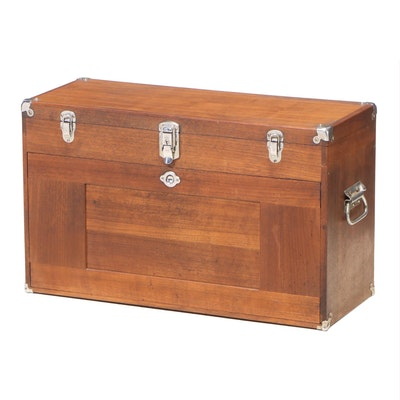 H. Gerstner & Sons Walnut Machinist's Tool Chest, Mid to Late 20th Century