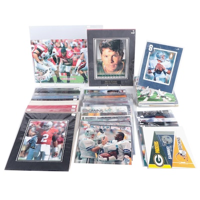 1990s NFL Signed Cards, 8x10 Prints, Large Trading Cards and Mini Team Pennants