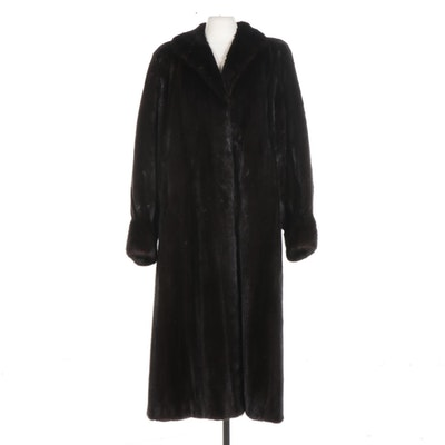 Bill Blass Sable Full-Length Fur Coat for the Evans Collection