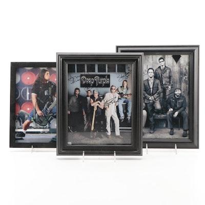 Deep Purple, Dave Matthews Band, Robert Trujillo Signed Photo Reprints with COAs