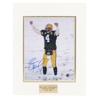 "Brett Favre Signed Green Bay Packers ""Snowy Lambeau Field Touchdown"" Photo Print"