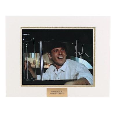 "Harrison Ford Signed ""American Graffiti"" (1973) Movie Photo Print, COA"