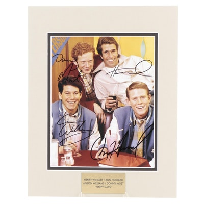 """Winkler, Howard, Williams, and Most Signed """"Happy Days"""" TV Sitcom Photo Print"""