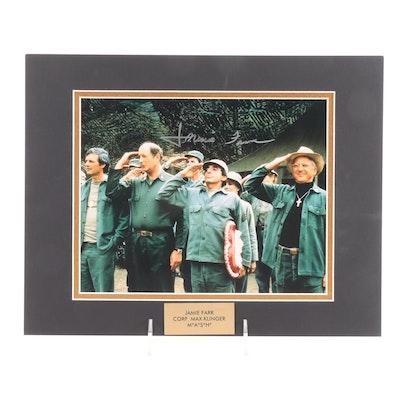"Jamie Farr ""Corp. Max Klinger"" Signed M*A*S*H Television Sitcom Photo Print, COA"