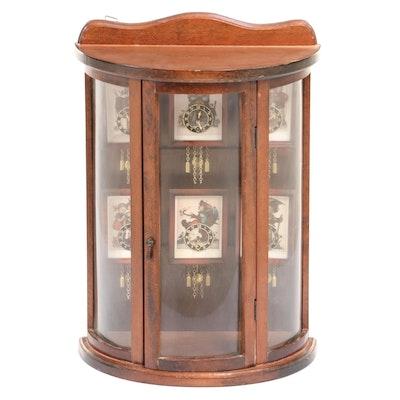 Table Top Hummel Six-Clock Display Case