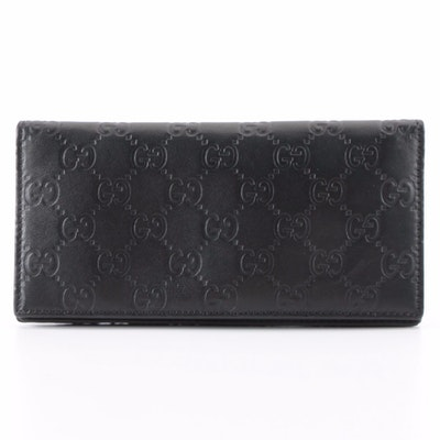 Gucci Bifold Wallet in Black Guccisima Leather