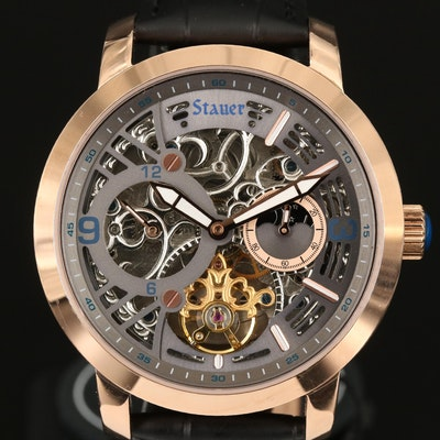 Stauer X - Ray Skeleton Dial Automatic Stainless Steel Wristwatch