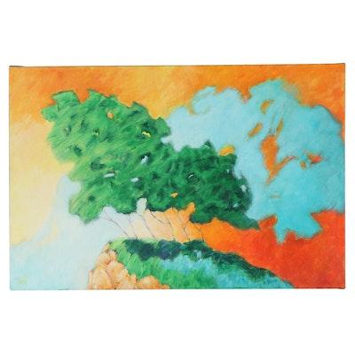 """Elsie Kay Harris Acrylic Painting """"Sunshine Embrace"""""""