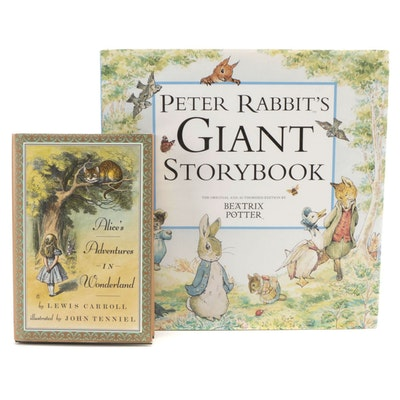 """Illustrated """"Alice in Wonderland"""" and """"Peter Rabbit's Giant Story Book"""""""