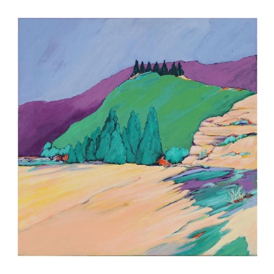 "Elsie Kay Harris Acrylic Painting ""Mountain Reprieve"""