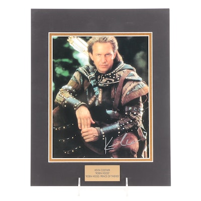 """Kevin Costner Signed """"Robin Hood: Prince of Thieves"""" Movie Photo Print, COA"""