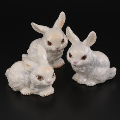 Goebel Porcelain Bunny Figurines, Mid to Late 20th Century