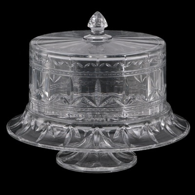 Marquis by Waterford Cut Crystal Footed Cake Stand with Lid